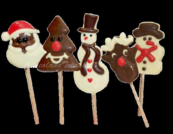 chocolade-kerstlollies