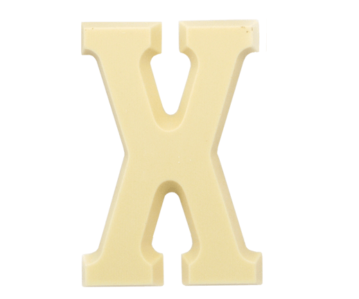 witte-chocoladeletter-x