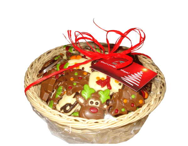 mandje-kerstchocolade