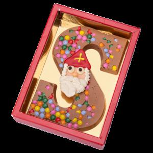 chocoladeletter-met-smarties