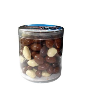 chocolade-pinda-in-transparant-kokertje