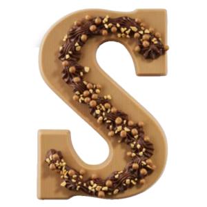 Karamel chocoladeletter